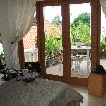 The room I shared with my sister Kerry - looking onto our balcony and outside sitting area