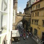 view from our bedroom window, the Charles bridge amazing!!