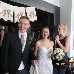 The bride & groom