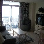 LIVING ROOM OF OCEANFRONT 2BR