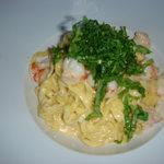 spaguetti gambas/rucola/truffe blanche