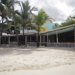 the restaurant  on the beach.