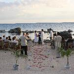 Beautiful view of the wedding