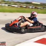 Fast action photo taken of Jake at Bushiri Karting Speedway