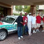With the crew from Embassy Suites Hot Springs