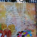 Kiddies menu