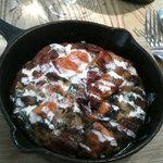 Sweet potato frittata with tahini