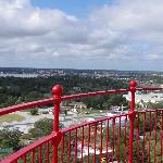 The view from the top of the lighthouse.