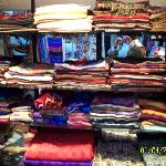 The Wall of Pashina Scarves