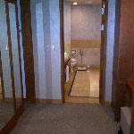 Passage to bathroom