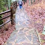 Flagstone path on trail