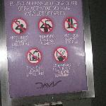 Hilarious bathroom warning: no washing armpits, head or feet in sink