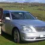 Tim at his Farmhouse in Snowshill with his Lexus limosine