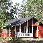 Seita Hotels cottage in summertime, Äkäslompolo