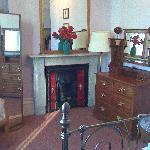 Beautiful fireplace and decor