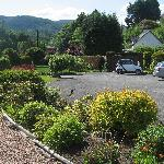Private parking and garden