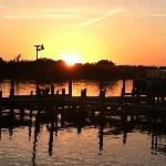 Sunset on the Beaufort waterfront