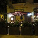 The Tertulia restaurant by night