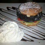 The Jelly Donut Burger for dessert!