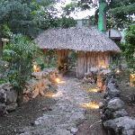 Mayan hut in museum's garden