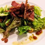 Earl Grey and Shiitake Smoked Duck Salad