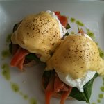 Eggs Florentine with home cured ocean trout!!!