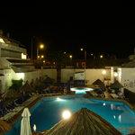 pool night shot