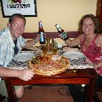 Huge Pizza to share !!!