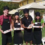 Graduated, they all prepared their food