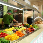 Naughty radish salad bar station