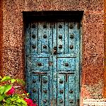 Door with Bouganvillea, San Miguel de Allende