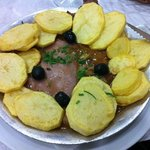 Portuguese beef steak with potatoes