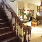 the old staircase and lobby