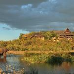 View of the lodge from the waterhole