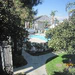 My second story view of the pool.