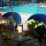 Fantastic Greek Feta Salad and a Mythos- heaven!