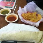 Grande Carne Asada Burrito, it is HUGE