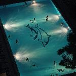 Abends im beheizten Pool