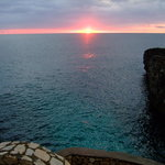 sun set at Negri point