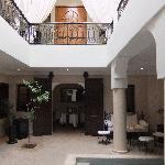 The entrance area