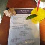 Sumo Bill enjoys an adult beverage and checks out the menu