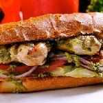 Pesto Chicken Baked Sandwich