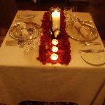 Rose Petal Dinner