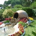 un angolo fiortio del giardino