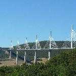 view on the bridge/viaduct de Millau