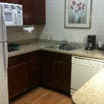 Kitchen, nice granite tops!