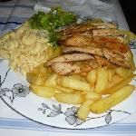 Grilled flying fish from Red Snapper, Oistins - best place to eat on a friday!