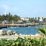El Malecón (vista hacia la Ciudad Colonial)