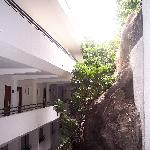Walk way to rooms (lower floors)