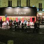 Le Comptoir from across the street